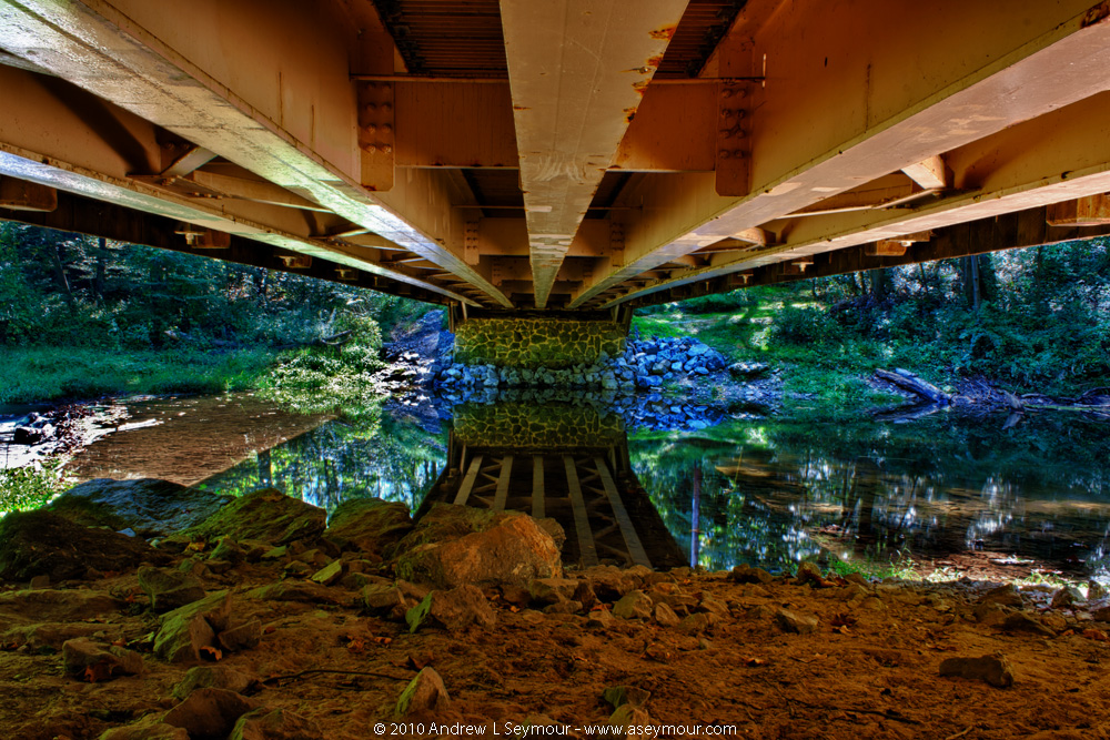 Looking Underneath Linton Stevens Covered Bridge (1886)