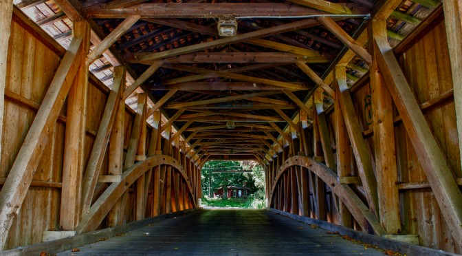 Looking through Rudolph & Arthur Covered Bridge (1886)