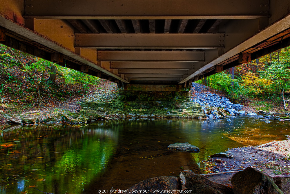 Underneath Glen Hope Covered Bridge (1889) - Looking South