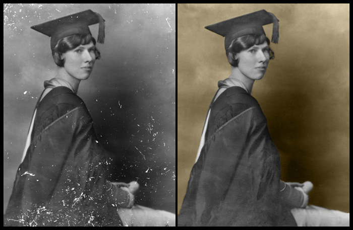 Formal Studio College Graduation Picture (circa 1920s)