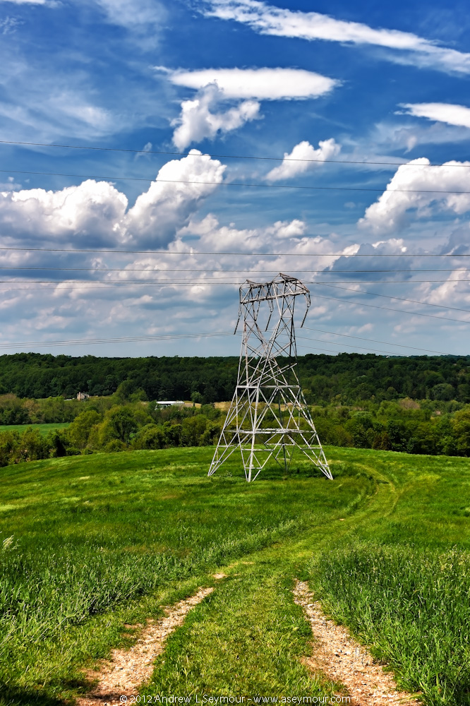 Power Towers in the ChesLen Preserve in Coatesville, Chester County