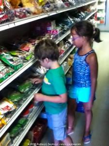 Logan & Madison looking at Dried Mushroom