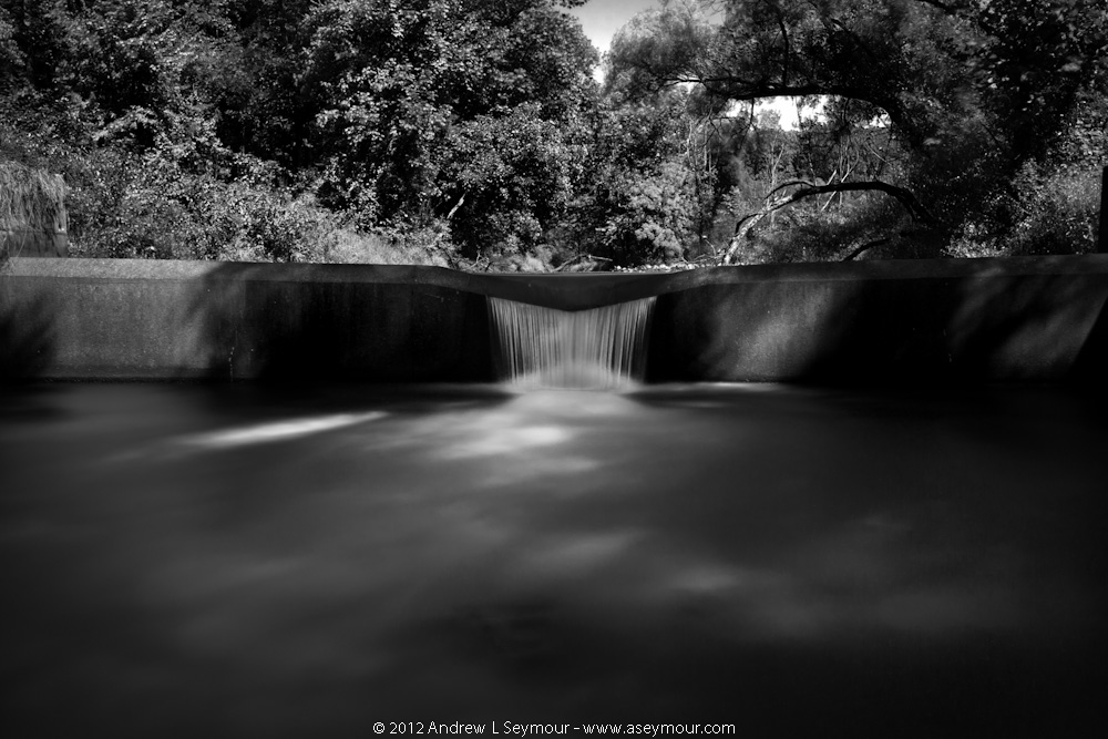 120912 Marsh Creek Spillway bw 07 - (3) Stops [32-259 seconds] f22 ISO 100