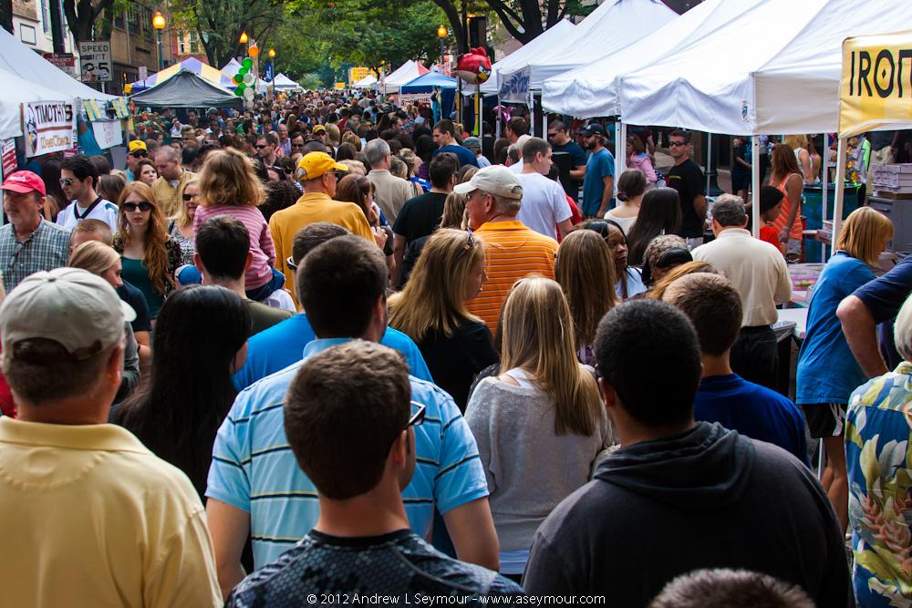 2012 Chester County Restaurant Festival - Crowd