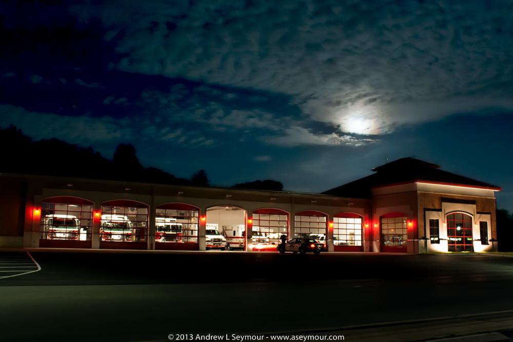 Minquas Fire Company HQ - Super Moon 2013