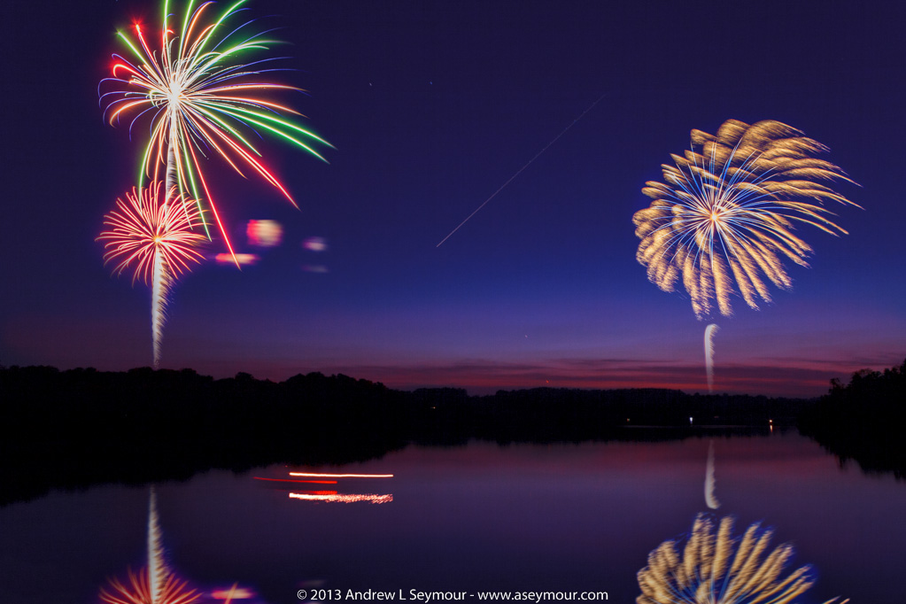 Fireworks over Marsh Creek State Park - Manipulation Monday