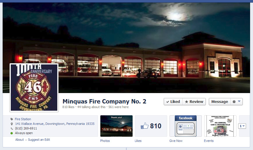 Minquas Facebook Cover Page