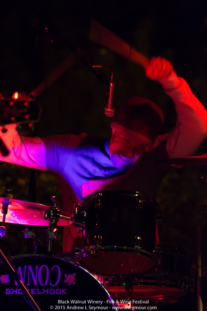 Rob Holt singing and drumming at the 3rd annual Fire & Wine Festival at Black Walnut Winery in Sadsburyville, Chester County PA.