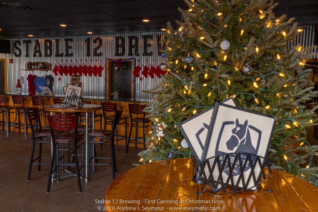 Stable 12 - The main bar area at Christmas time.